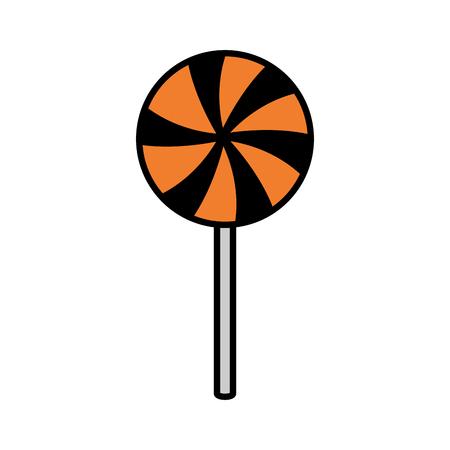 halloween sweet lollipop icon vector illustration design  イラスト・ベクター素材