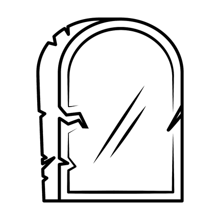 halloween gravestone isolated icon vector illustration design Banque d'images - 108919076