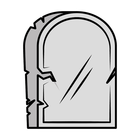 halloween gravestone isolated icon vector illustration design