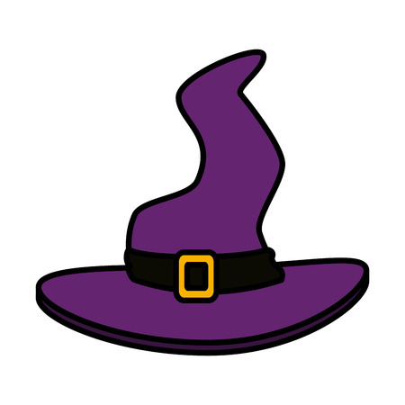 witch hat halloween icon vector illustration design Illustration