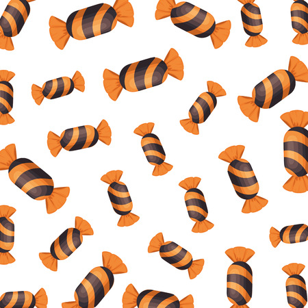halloween sweet candy pattern background vector illustration design