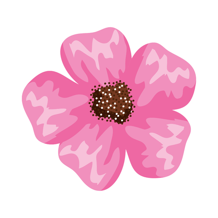 beautiful flower isolated icon vector illustration design