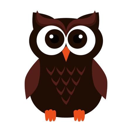 happy halloween owl icon vector illustration design