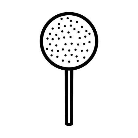 sweet lollipop isolated icon vector illustration design Ilustração