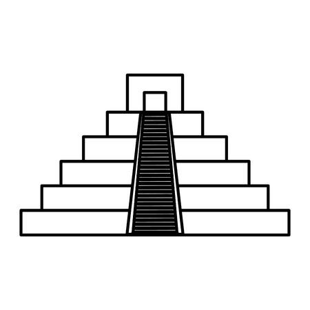 culture maya, icône, pyramide, vecteur, illustration, conception Vecteurs