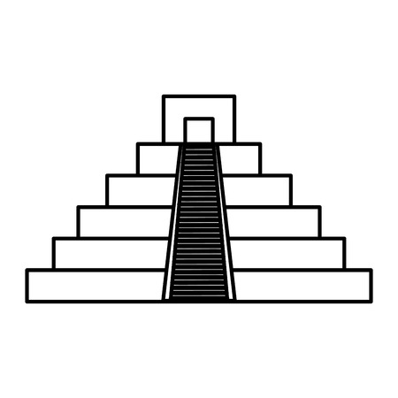 mayan culture pyramid icon vector illustration design