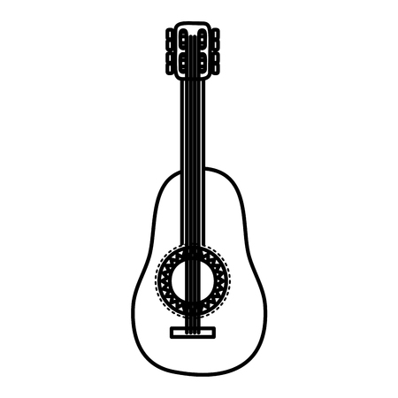 mexican guitarron instrument icon vector illustration design