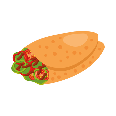 delicious mexican burrito icon vector illustration design