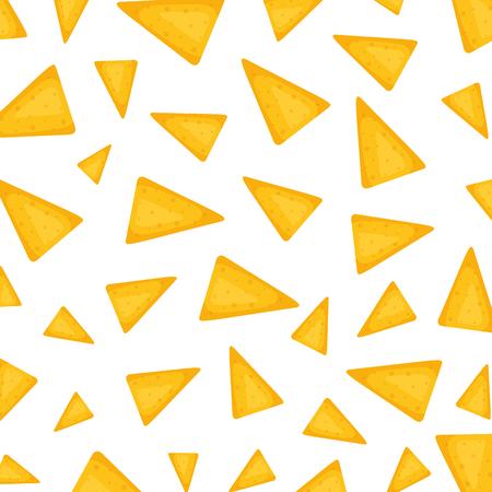 delicious mexican nachos pattern vector illustration design
