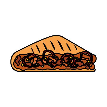 taco mexican food icon vector illustration design Foto de archivo - 108919026