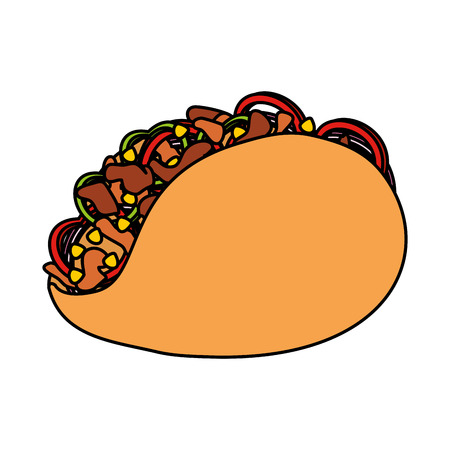 taco mexican food icon vector illustration design 矢量图像