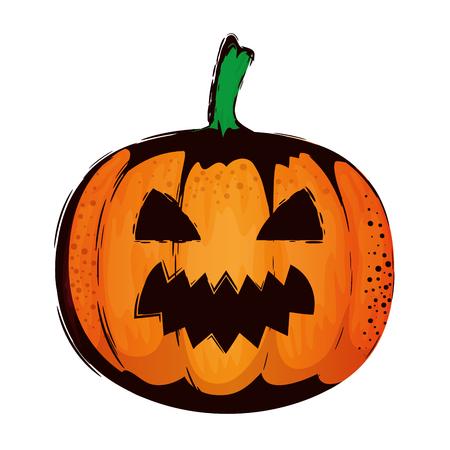 happy halloween pumpkin character vector illustration design