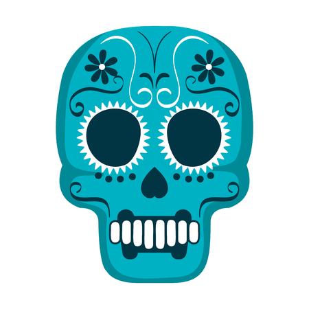 mask of the santa death vector illustration design