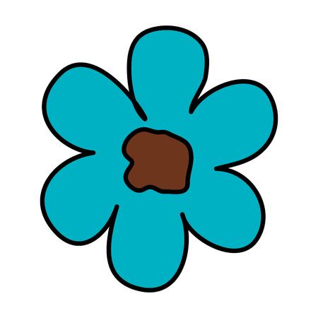 beautiful flower isolated icon vector illustration design