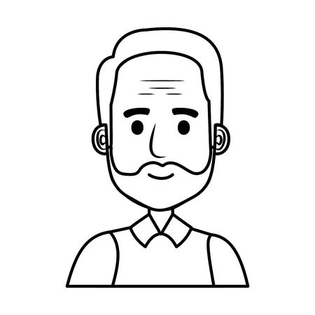 old man with beard avatar character vector illustration design Фото со стока - 109687457