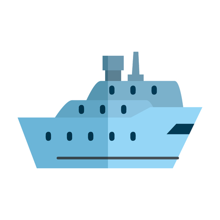 cargo ship isolated icon vector illustration design Illustration