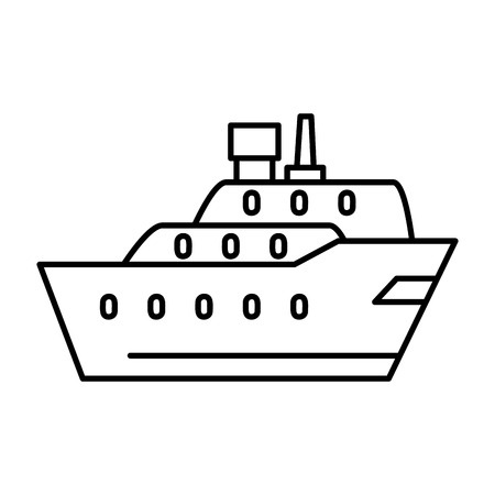 cargo ship isolated icon vector illustration design Banque d'images - 109687505