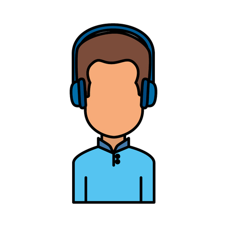 user avatar with headset vector illustration design