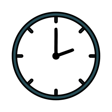 time clock isolated icon vector illustration design Archivio Fotografico - 109687967