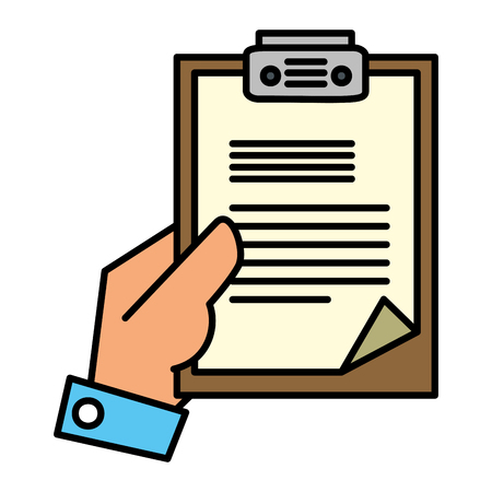 hand with checklist clipboard vector illustration design Banque d'images - 109687971