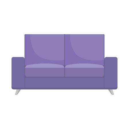 sofa livingroom isolated icon vector illustration design