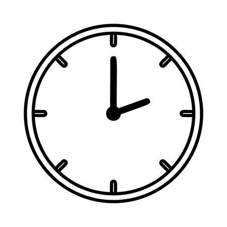 time clock isolated icon vector illustration design Archivio Fotografico - 109687996