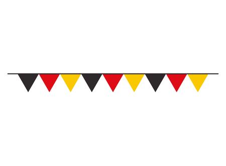 garland flag germany decoration celebration vector illustration Ilustração