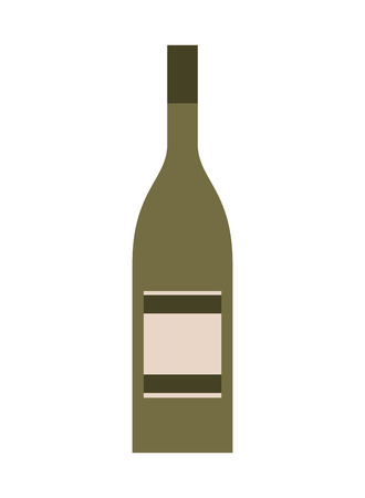 bottle drink beverage alcohol isolated vector illustration