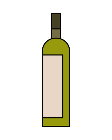 Bottle drink beverage alcohol isolated vector illustration Stock Photo