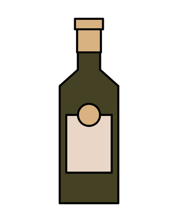 Bottle drink beverage alcohol isolated vector illustration Stock Illustration - 109066070