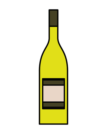 Bottle drink beverage alcohol isolated vector illustration 写真素材