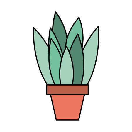 Potted plant natural decoration isolated design vector illustration Reklamní fotografie