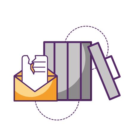 trash can email message damage vector illustration