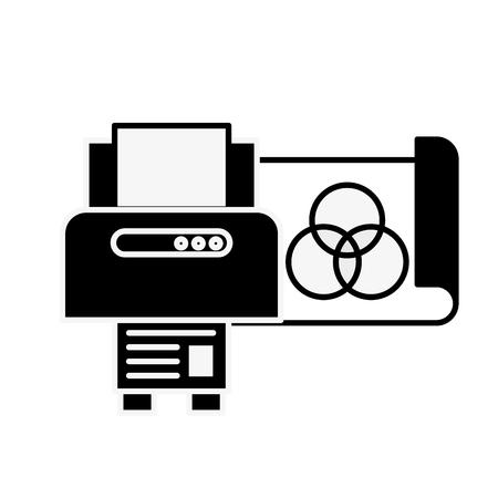 graphic design printer copy paper vector illustration monochrome