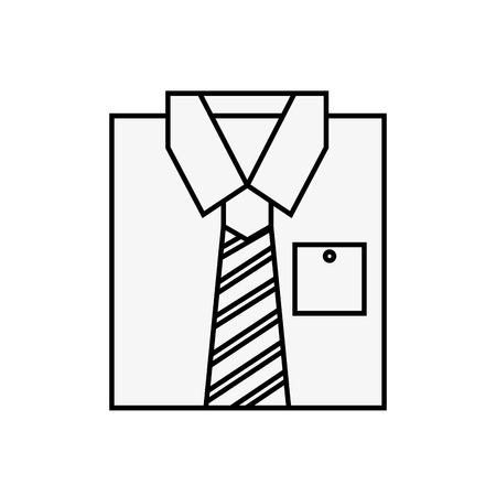 folded male shirt clothes fashion vector illustration outline