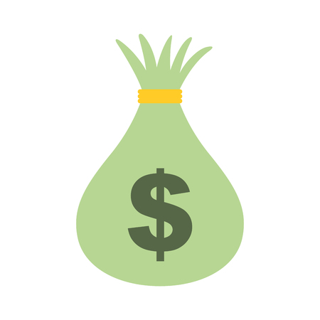 money bag cash currency bank isolated image vector illustration