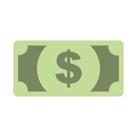 billet de banque dollar argent comptant monnaie illustration vectorielle