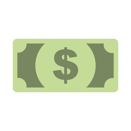 dollar banknote money cash currency vector illustration Çizim