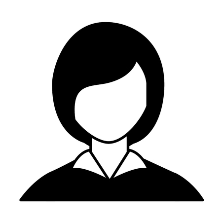 business woman portrait character isolated image vector illustration Çizim