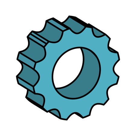 gear machinery isolated icon vector illustration design
