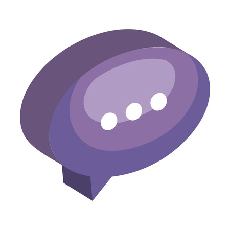 speech bubble message icon vector illustration design 向量圖像
