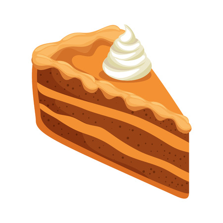 delicious apple pie portion vector illustration design