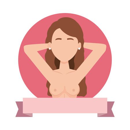 sexy woman with naked torso vector illustration design Zdjęcie Seryjne - 109400501
