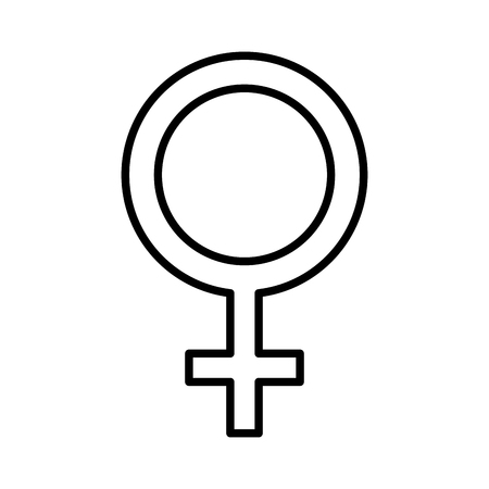 femenine gender symbol icon vector illustration design Ilustrace