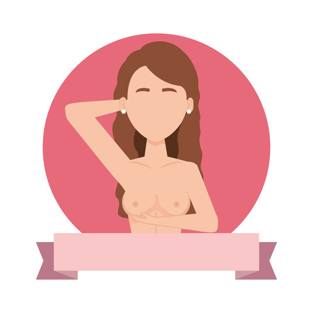 sexy woman with naked torso vector illustration design Banque d'images - 109400558