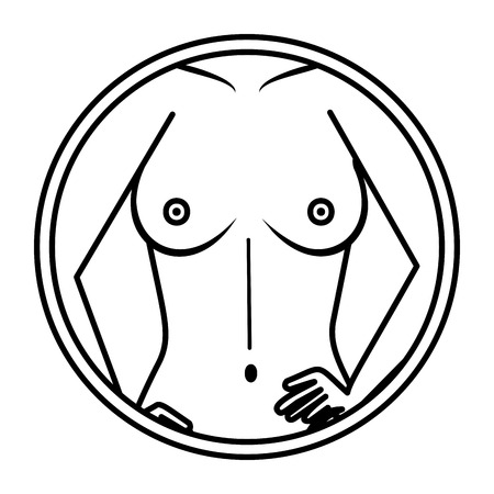 sexy woman with naked torso vector illustration design