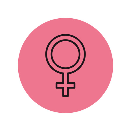 femenine gender symbol icon vector illustration design 일러스트