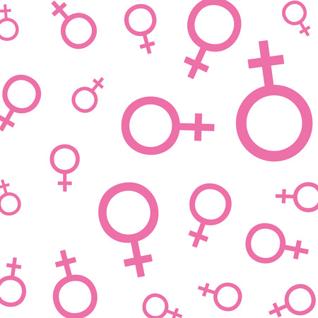 femenine gender symbols pattern vector illustration design 일러스트