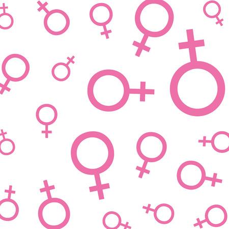 femenine gender symbols pattern vector illustration design Illustration