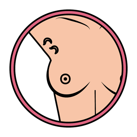 torso of woman with lymph nodes in the armpit vector illustration design Stock Illustratie
